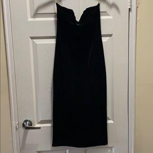 💚 Velvet strapless dress